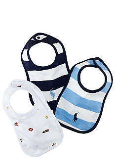 Ralph Lauren Childrenswear 3-Pack Bibs
