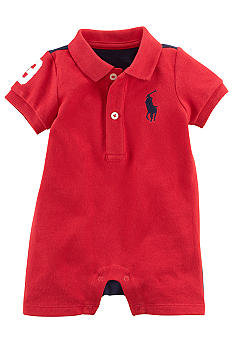 Ralph Lauren Childrenswear Coloblocked Mesh Shortall