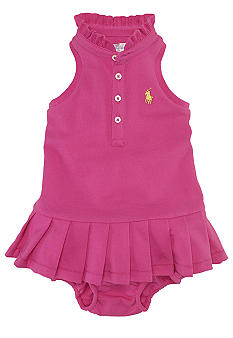 Ralph Lauren Childrenswear Classic Cotton Mesh Dress