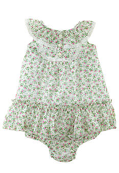 Ralph Lauren Childrenswear Floral Bib Dress