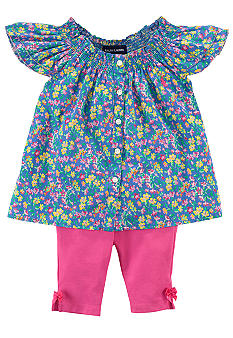 Ralph Lauren Childrenswear Floral Tunic Pant Set