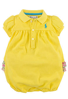 Ralph Lauren Childrenswear Floral Ruffle Bubble Shortall