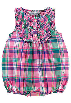 Ralph Lauren Childrenswear Madras Bubble Romper