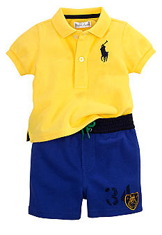 Ralph Lauren Childrenswear Sporty Polo and Short Set