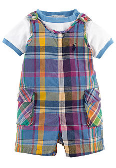 Ralph Lauren Childrenswear Madras Shortall and Tee Set