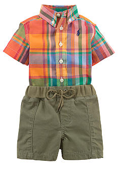 Ralph Lauren Childrenswear Madras Button Down and Short Set