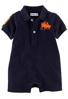 Ralph Lauren Childrenswear Dual Match Embroidered Shortall
