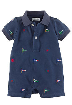 Ralph Lauren Childrenswear Nautical Embroidered Shortall