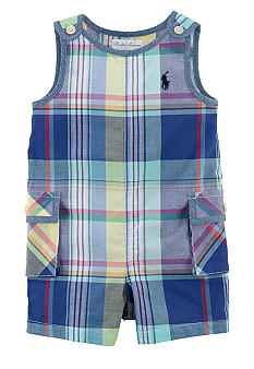 Ralph Lauren Childrenswear Preppy Plaid Overall
