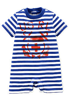 Ralph Lauren Childrenswear Anchor Graphic Striped Shortall