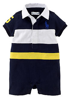 Ralph Lauren Childrenswear Pieced-Stripe Sporty Shortall