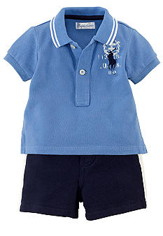 Ralph Lauren Childrenswear Rugby and Short Set