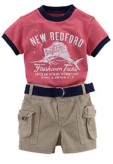 Ralph Lauren Childrenswear Vintage Tee and Cargo Short Set