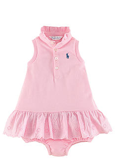 Ralph Lauren Childrenswear Eyelet Embroidered Dress