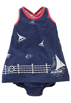 Ralph Lauren Childrenswear Sailboat Print Tank Dress