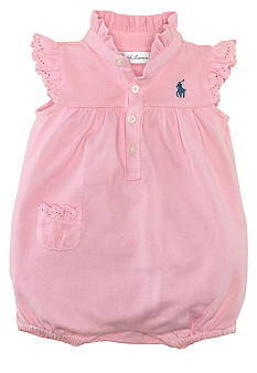 Ralph Lauren Childrenswear Eyelet Embroidered Bubble Shortall