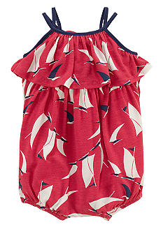Ralph Lauren Childrenswear Sailboat Print Romper