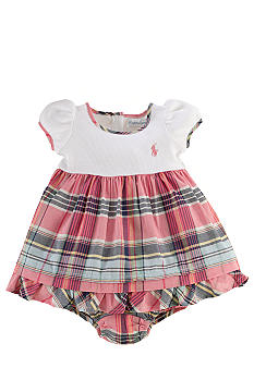 Ralph Lauren Childrenswear Rib-Knit Madras Dress