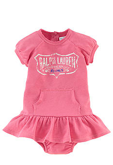 Ralph Lauren Childrenswear Sporty Graphic Terry Dress
