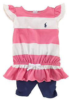 Ralph Lauren Childrenswear Striped Top and Legging Set