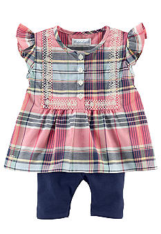 Ralph Lauren Childrenswear Madras Top and Legging Set