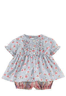 Ralph Lauren Childrenswear Floral Print Top and Bloomer Set