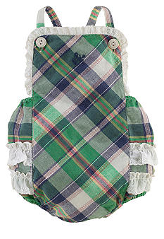 Ralph Lauren Childrenswear Plaid Bubble Romper