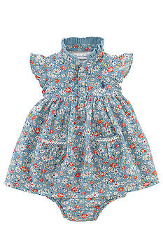 Ralph Lauren Childrenswear Floral Print Flutter Sleeve Dress