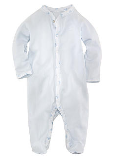 Ralph Lauren Childrenswear Block-Print Trim Coverall