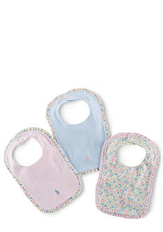 Ralph Lauren Childrenswear Jersey Bib 3-Pack Set