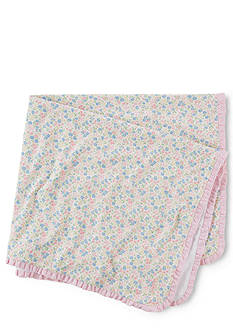 Ralph Lauren Childrenswear Floral Receiving Blanket
