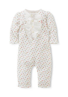 Ralph Lauren Childrenswear Floral Henley Coverall