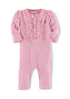 Ralph Lauren Childrenswear Stripe Ruffle Coverall