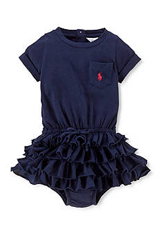 Ralph Lauren Childrenswear Tiered-Ruffle Tee Shirt Dress & Bloomers