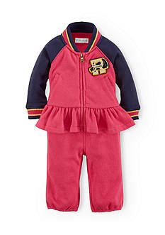Ralph Lauren Childrenswear Peplum Varsity Pant Set