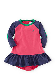 Ralph Lauren Childrenswear Color-Blocked Jersey Dress & Bloomers