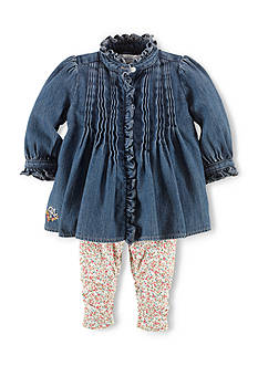 Ralph Lauren Childrenswear Denim Top & Floral Leggings