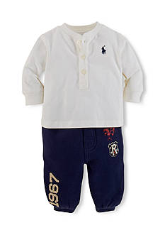 Ralph Lauren Childrenswear Henley Tee & Athletic Pants