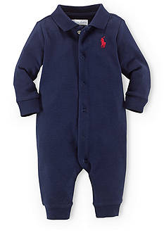 Ralph Lauren Childrenswear Classic Solid Coverall