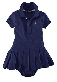 Ralph Lauren Childrenswear Infant Girl Stretch Mesh Polo Dress