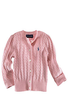 Ralph Lauren Childrenswear Infant Girl Pink Cardigan