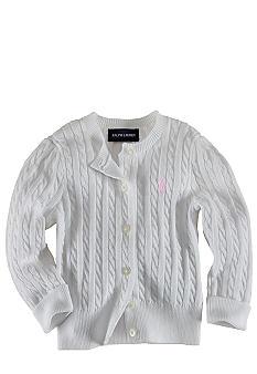 Ralph Lauren Childrenswear Infant Girl White Cardigan