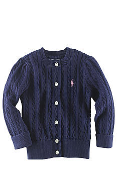 Ralph Lauren Childrenswear Infant Girl Navy Cardigan Sweater