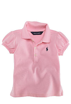 Ralph Lauren Childrenswear Infant Girl Stretch Mesh Polo