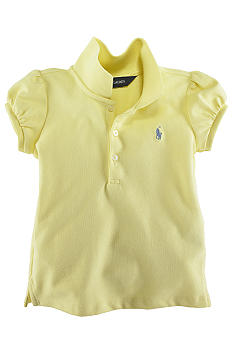 Ralph Lauren Childrenswear Infant Girls Stretch Mesh Polo