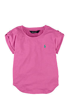 Ralph Lauren Childrenswear Roll-Tab Sleeve Tee