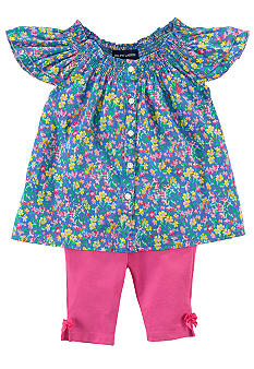 Ralph Lauren Childrenswear Floral Print Tunic and Legging Set