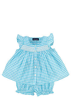 Ralph Lauren Childrenswear Gingham Tunic with Bloomer Set