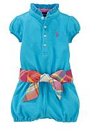 Ralph Lauren Childrenswear Ruffle Collar Romper