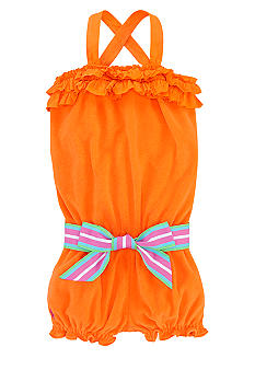 Ralph Lauren Childrenswear Ruffle Terry Romper